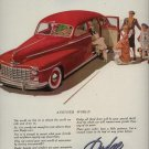 Vintage1947 Red Dodge Family Car Print AD
