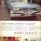 Vintage 1960 Dodge Matador Polara Cars AD