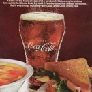 Vintage 1967 Coca Cola Bottle Glass Print Coke AD