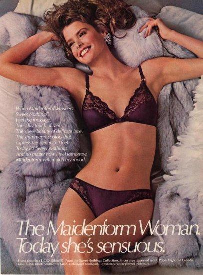 1985 Maidenform Sexy Woman Bra & Panties AD