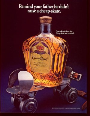 1983 Royal Crown Whiskey Father raise Cheap-skate AD