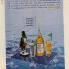 Vintage 1965 Old Crow Whiskey  Crow on a Raft Whisky AD