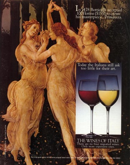 1983 The Wines of Italy Botticelli Primavera AD