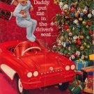 Vintage 1961 Corvette Pedal Toy Car Hertz Rent A CAR AD