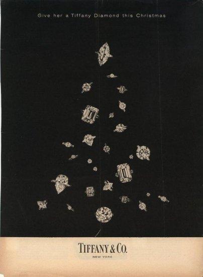 Vintage 1960 Tiffany Diamond Christmas Tree AD