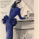 Vintage 1945 Marlboro Cigarette Lady in Purple Bolegard Art AD