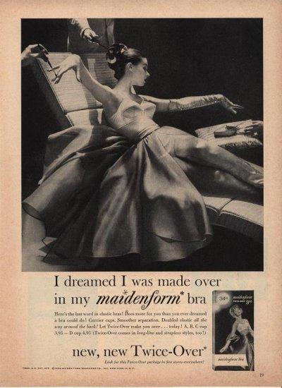 Vintage 1958 I dreamed Made over Maidenform Bra AD