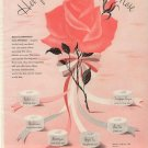 Vintage 1944 Pink Rose Helena Rubinstein Make UP Cosmectic AD