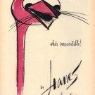 Vintage 1960 Hanes Seamless Stockings Ostrich Hosiery Bobri AD