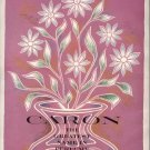 Vintage 1960 Caron Perfume AD