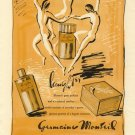 Vintage 1943 Germaine Monteil Laughter Perfume Nudes AD