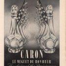 Vintage 1959 Caron Le Muguet Du Bonheur Perfume AD
