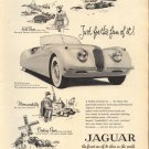 Original Vintage 1954 Jaguar Sports Convertible Ad