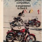 Vintage 1968 Harley Davidson motorcycle 8 different models 2 page AD