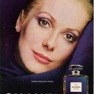 Vintage 1975 Catherine Deneuve Chanel No 5 Elegant AD