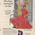 Vintage 1950 Loretta Young Lux Laundry Detergent AD