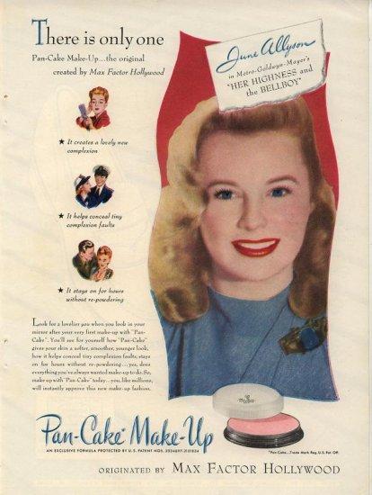 Vintage 1945 Max Factor Hollywood June Allyson AD