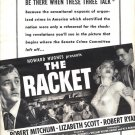Vintage 1951 Howard Hughes The Racket Mitchum Movie Promo AD