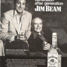 Vintage 1973 Mike Connors Fredric March Jim Beam Whiskey AD