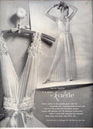 Vintage 1953 Faerie Slip Lingerie Nightgown AD