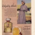 Vintage  1950 Yardley English Lavender Perfume London AD