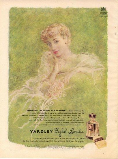 Vintage 1950 Yardley English Lavender Perfume AD