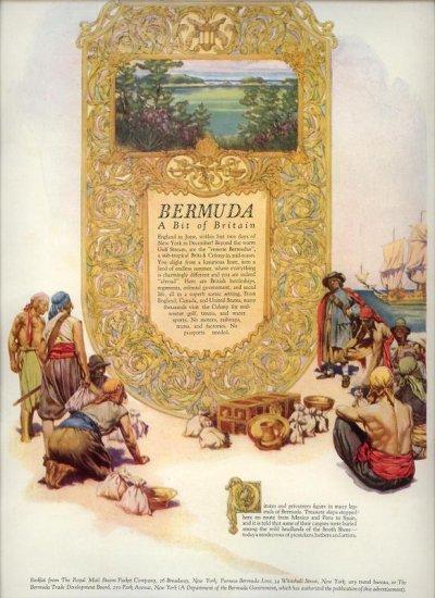Vintage 1927 Bermuda Travel AD