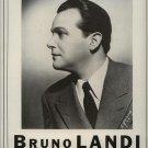 Vintage 1945 Bruno Landi Opera Promo AD