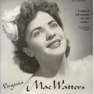Vintage 1945 Virginia Mae Watters Opera Promo AD