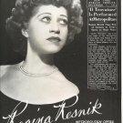 Vintage 1945 Regina Resnik Opera Music Promo AD