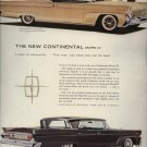 1958 Vintage Ford Lincoln Continental Mark 3 Car Print AD