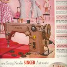 Vintage 1955 Singer Swing Needle Sewing Machine AD