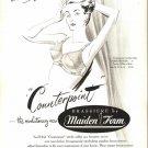 Vintage 1947 Maidenform Maiden Form Brassiere Art Print AD