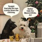 Vintage 1974 Black & White Whisky Scottish Terrier Westie AD