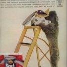 Vintage 1961 Standard Grey Poodle Ken L Ration Dog Food AD