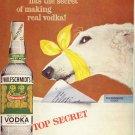 Vintage 1959 Wolfschmidt Vodka Borzoi Wolfhound Yellow AD