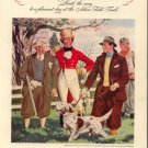 Vintage 1937 Johnnie Walker Whisky Orange Belton Dog Hunter AD