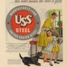 Vintage 1946 United States Steel Scottish Terrier AD