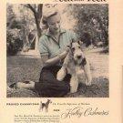 Vintage 1954  Peck  & Peck Ch Travella Harham Florsheim Wire Hair Terrier AD