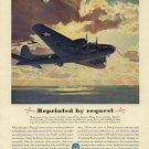 Vintage 1943 Studebaker Flying Fortress Airplane Aviation AD