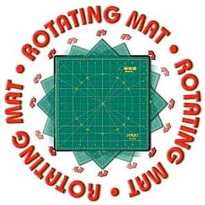 "OLFA 12""x12""Rotating/Spinning Self-Healing Rotary Cutting Mat~Makes Cutting Easy! Just Cut & Turn!"