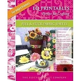 Electric Quilt EQ Printables Peel & Stick Inkjet Fabric Sheets ~8 1/2� x 11�~ Great Craft Item!