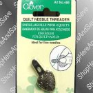 Clover Heart Shaped Quilt Needle Threader~Vintage Style~ Antique Gold Color~Thread needles easily!