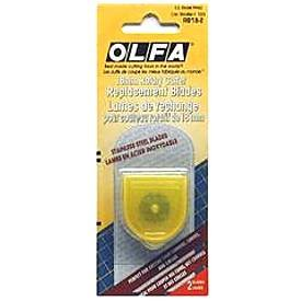 OLFA RB18 ~ 18mm Rotary Cutter Replacement Blades, 2-pack ( RB18-2 ). Use with OLFA RTY-4 & CPM-3