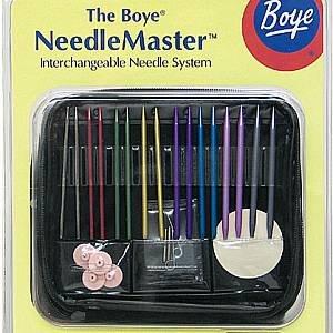 Boye NeedleMaster Interchangeable Needle System~Circular,Flexible Straight& Stitch Holders~Knitting