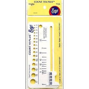 Boye 7526 Count Ten Plus Plastic Knit Gauge