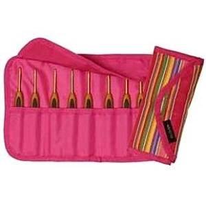 Clover Soft Touch Crochet Hook Gift Set (8 hooks) with Designer Getaway Case, #3626 ~ Great Comfort!
