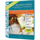 "EQ Printables 8 1/2"" x 11"" Quilter's Newsprint Sheets, 100 Shts for Quilting Stencils + Foundations"