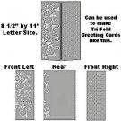 "Magic Celebration 8.5"" x 11"" Letter size Embossing Folder by Craftwell~ eBosser, Cut'n'Boss"