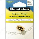 Beadalon Magnetic Tube Clasp, 4.5x9mm Yellow Gold Plated ~ 2 Sets in package ~ For Jewelry Crafting
